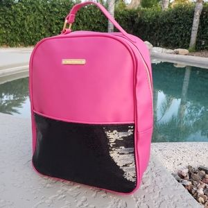 Juicy Couture EUC pink black sequin backpack